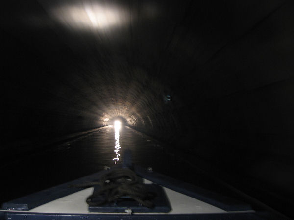 This photo might be the Blisworth Tunnel but you get the idea...