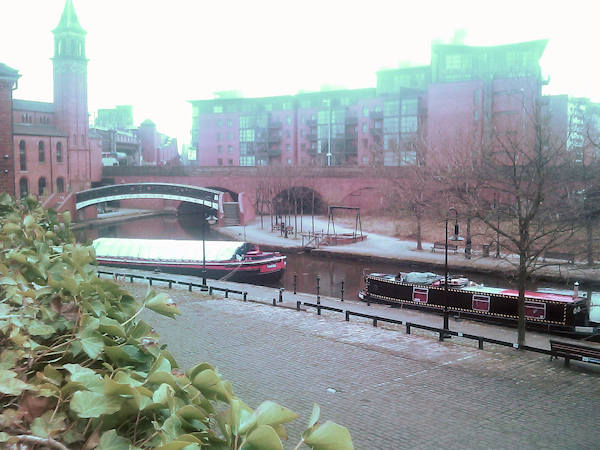 View over the end of Castlefields Basin, Manchester