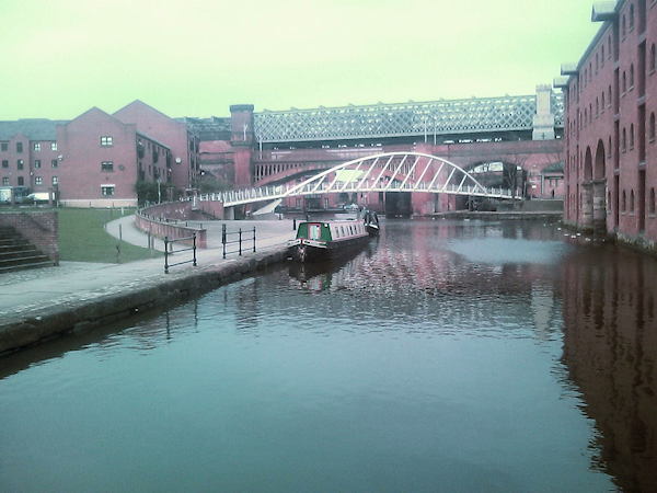 New bridge at Castlefields Basin, Manchester