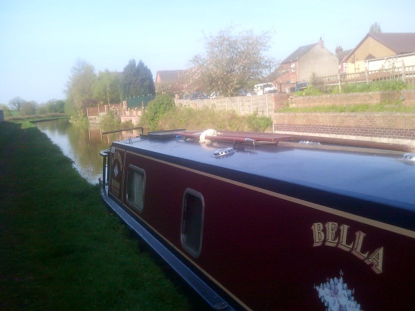 Narrowboat Bella moored at Wheelock