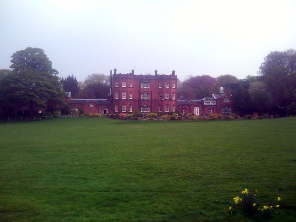 Large red brick stately home
