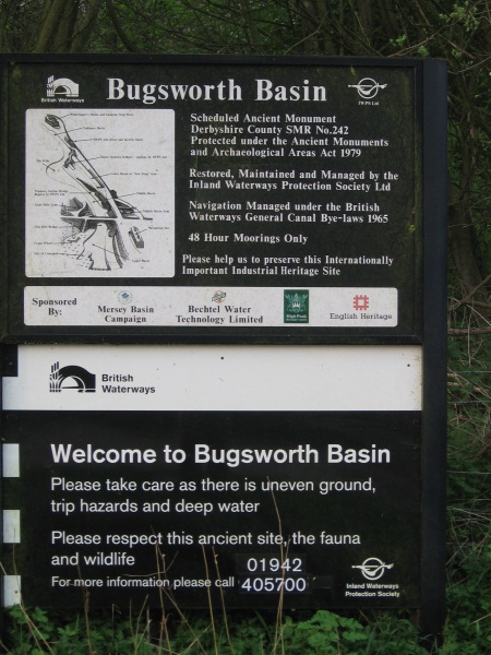 Information sign at Bugsworth Basin