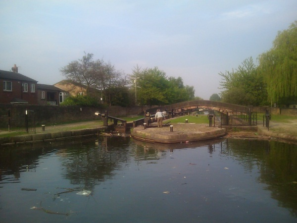 Canal basin and lock