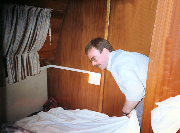 Staff make up the beds