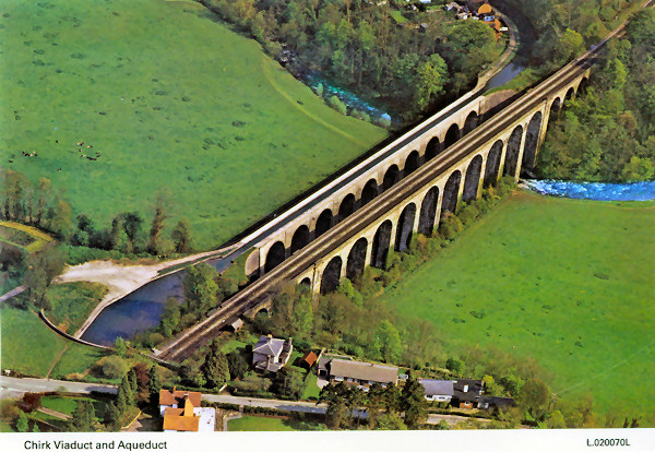 Aerial view of Chirk Aqueduct