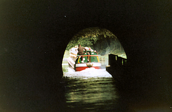 End of Chirk Tunnel ahead