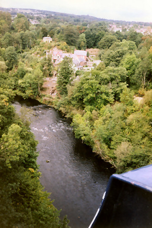 View down from Pontcysyllte Aqueduct