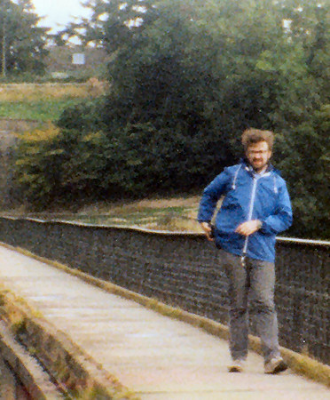 Howard walking over Chirk Aqueduct