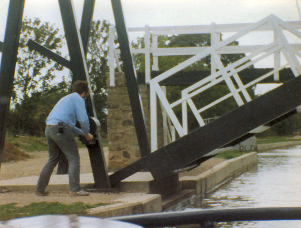 Howard working a lift bridge