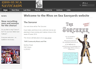 Thumbnail of Rhos on Sea Savoyards site