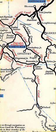 South Oxford Canal map